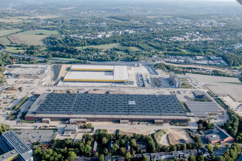 Aerial view of the former Opel site